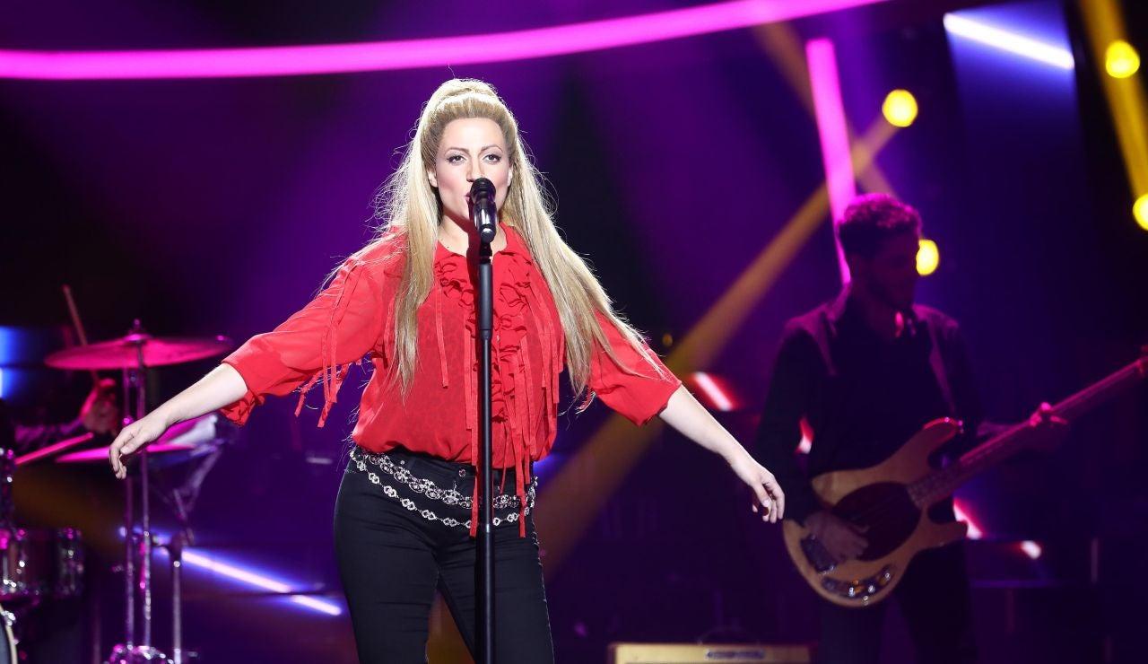 María Villalón canta la historia de amor de Shakira en 'Me enamoré'