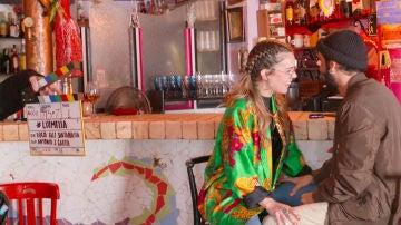 El fogoso reencuentro de Lucía Martín Abello y Jonás Berami en #Luimelia