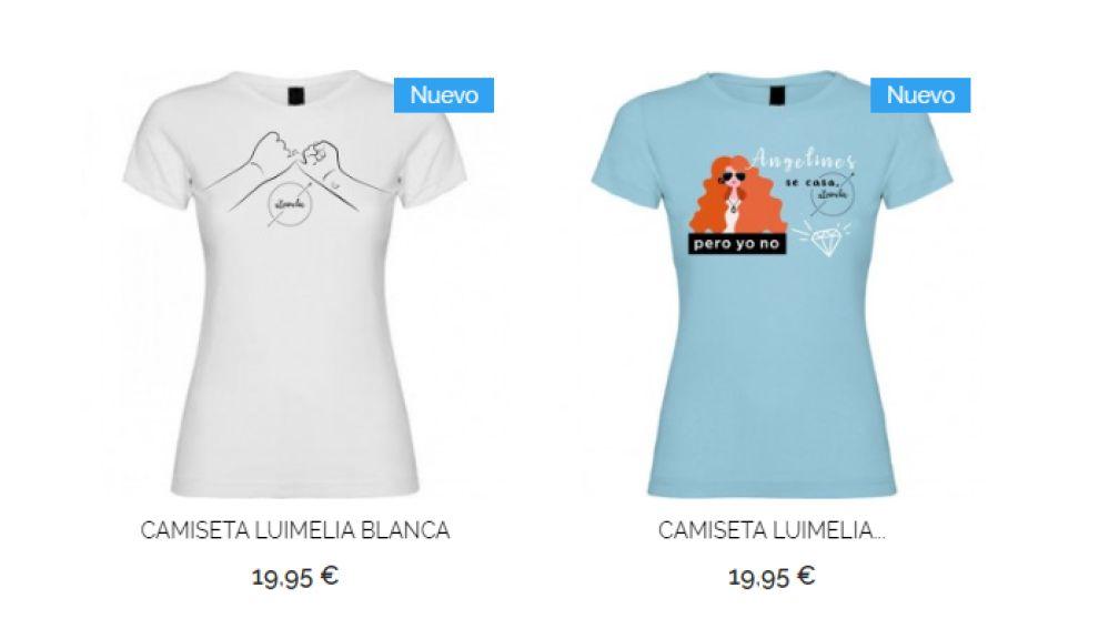Camisetas de '#Luimelia'