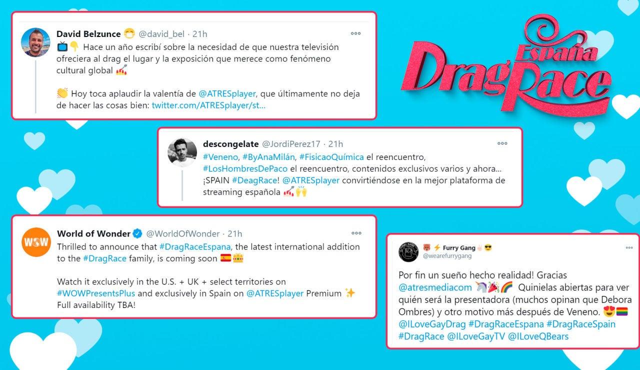 La gran repercusión en redes sociales ante la llegada de 'Drag Race' a ATRESplayer Premium