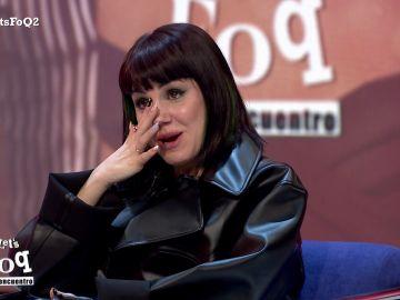 Las lágrimas de Angy Fernández al ver una secuencia inédita de Gorka y Paula, el domingo en 'Let's FOQ'