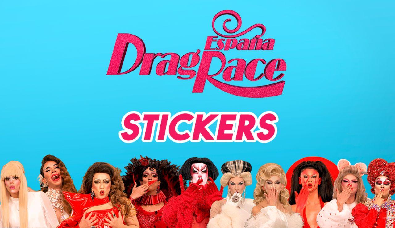 Descárgate los stickers oficiales de 'Drag Race España'