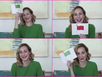 Ana Milán se somete al juego viral 'Red or green flag': sexo, stickers y mentiras piadosas
