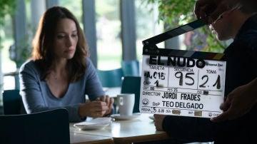 Natalia Verbeke en el rodaje de 'El Nudo'