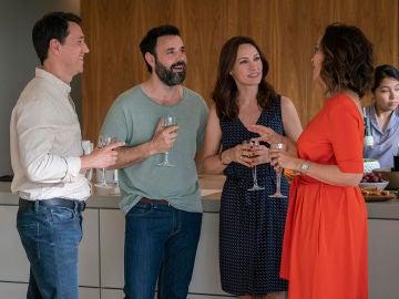 El matrimonio Bécker y Alvarado se juntan en una cena