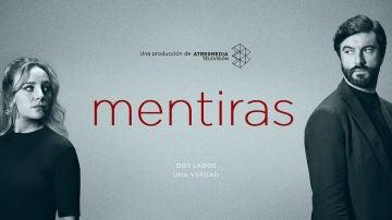 Cartel oficial de 'Mentiras', protagonizada por Ángela Cremonte y Javier Rey