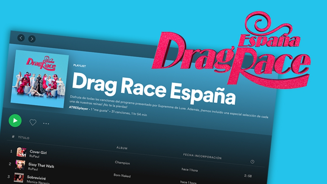 Disfruta de la playlist oficial de 'Drag Race España'